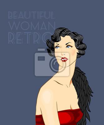 Piękne kobiety w stylu Art Deco. ilustracja