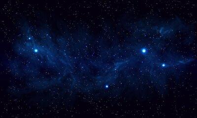 Naklejka Piękne miejsca z niebieską mgławicą, realistyczny wektor - EPS 10