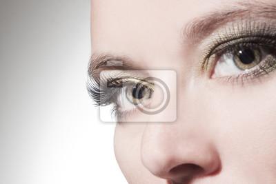 Naklejka piękne oczy kobieta bliska