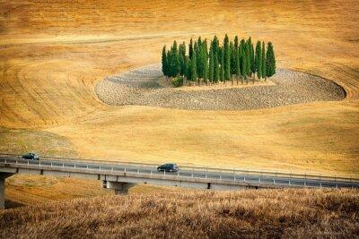 Naklejka Piękne widoki krajobraz lato w Toskanii