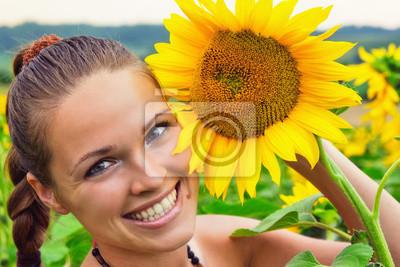 piękno między słoneczniki