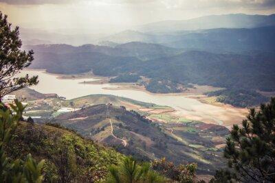Naklejka Piękny krajobraz górski