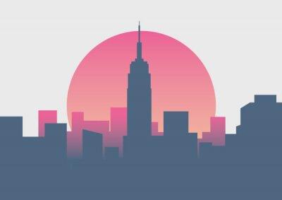 Naklejka Piękny wschód słońca w Nowym Jorku o wschodzie słońca