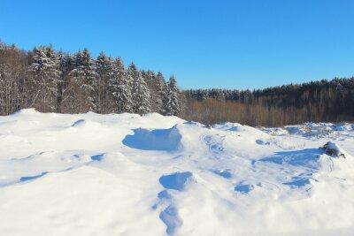 Piękny zimowy krajobraz.