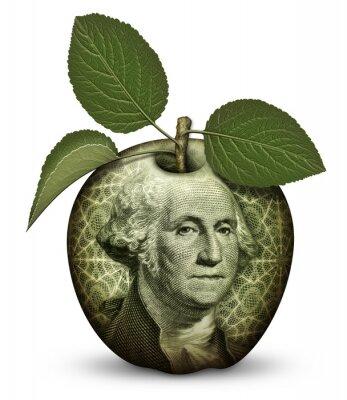 Naklejka Pieniądze Jabłko