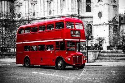 Naklejka Piętrowy autobus charakterystyczny londyński.