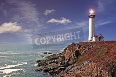 Naklejka pigeon point lighthouse - pacific coast / california