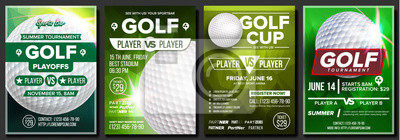 Naklejka Piłka golfowa. Ogłoszenie o wydarzeniu sportowym. Baner reklamowy.