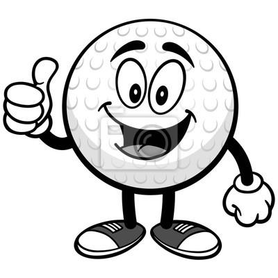 Piłka golfowa z aprobaty ilustracją