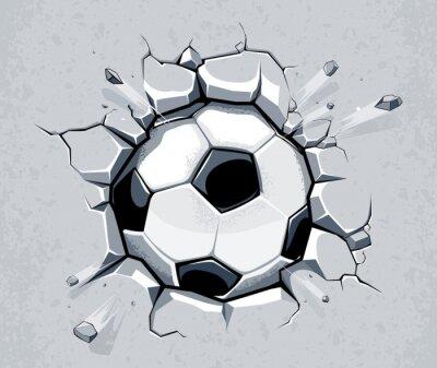Piłka łamanie ścianę