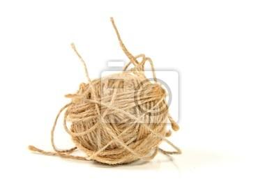 Piłka liny samodzielnie na białym tle