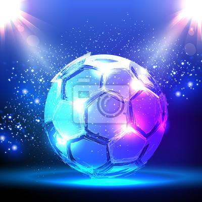 Piłka na niebieskim centrum uwagi