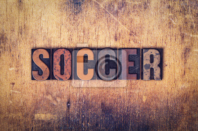 Piłka nożna Concept drewniane prasą Rodzaj