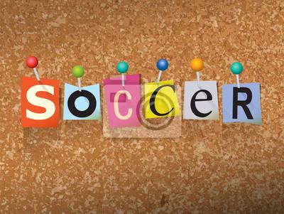 Piłka nożna Concept przypięte Letters Ilustracja