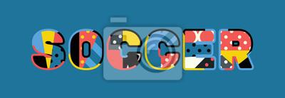 Piłka nożna Concept Word Art Illustration