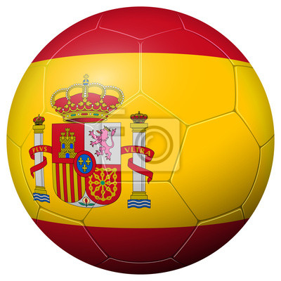 Piłka nożna - flaga HISZPANIA