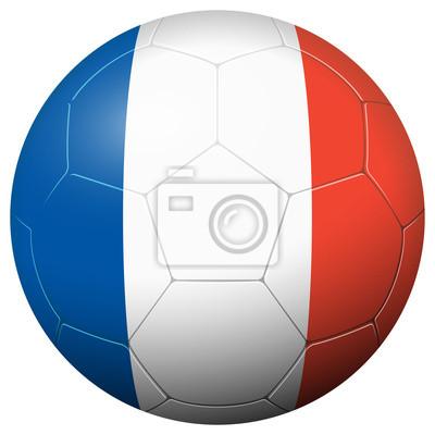 Piłka nożna - Flaga kraju Francja