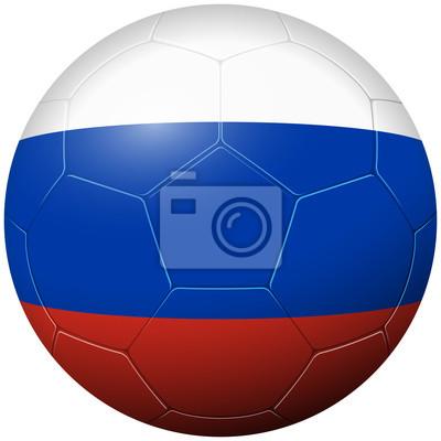 Piłka nożna futbol - flaga kraju Rosja