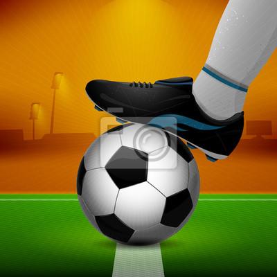 Piłka nożna i podkładki