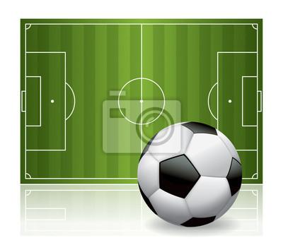 Piłka nożna i Pole Izolowane ilustracji