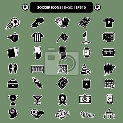 piłka nożna ikony podstawowe