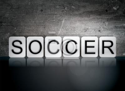 Piłka nożna kafelki litery Koncepcja i tematu