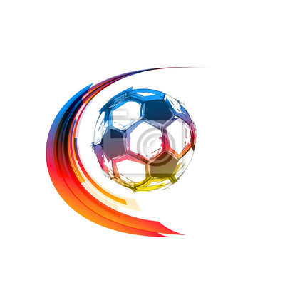 Piłka nożna lub kolorowe piłki z tras ruchu