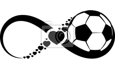 Naklejka Piłka nożna lub piłki nożnej Miłość Nieskończoność