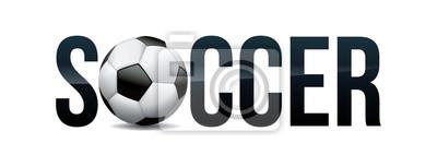 Piłka nożna motywu słowo sztuki ilustracji
