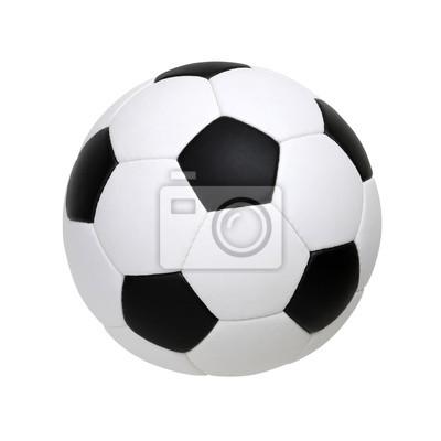 piłka nożna na biały