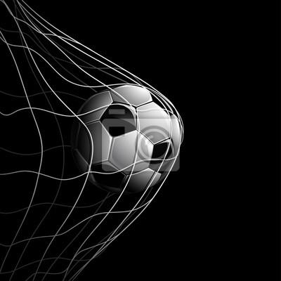 Piłka nożna na czarny