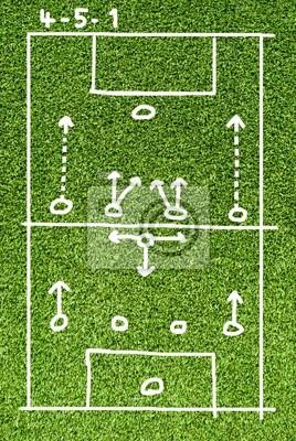 Piłka nożna na streszczenie planu sztucznej trawy Polu