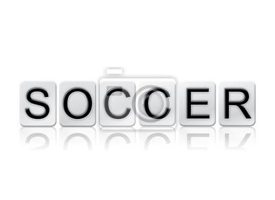 Piłka nożna Odosobnione Płytkie listów Koncepcja i Temat