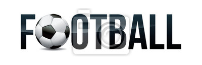 Piłka nożna Piłka nożna koncepcja słowo sztuka ilustracja