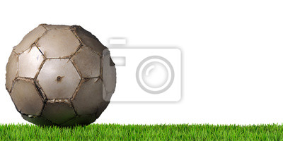 Piłka nożna - Piłka z zielonej trawie