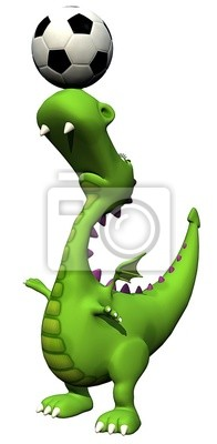 Piłka nożna - piłkarz głowy - baby baby dragon