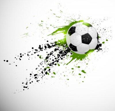 Naklejka Piłka nożna projekt