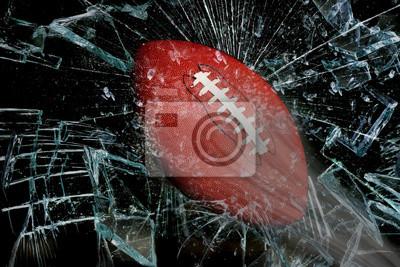 Piłka nożna przez szkło.