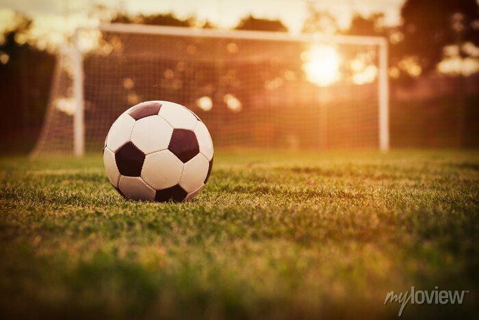 Naklejka Piłka nożna słońca