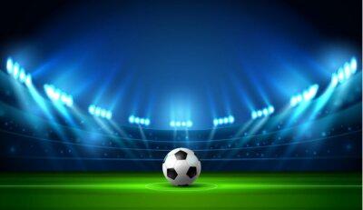 Naklejka piłka nożna stadion punktowy i tablica wyników