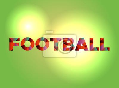 Piłka nożna tematu Słowo sztuki ilustracji