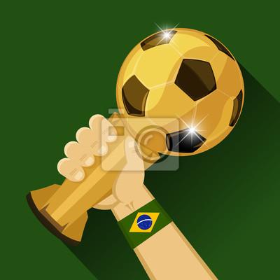 Piłka nożna trofeum dla Brazylii