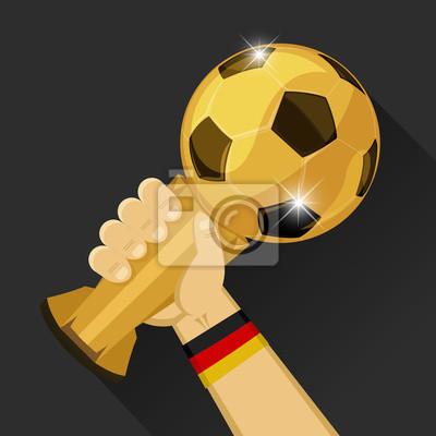 Piłka nożna trofeum dla Niemiec
