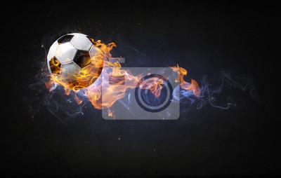 Piłka nożna w ogniu