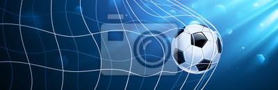 Piłka nożna w siatce