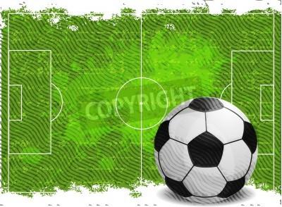 Naklejka Piłka nożna wzór tła