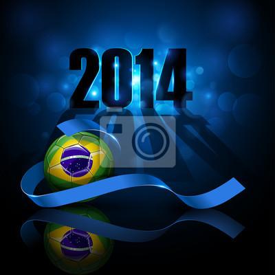Piłka nożna z Brazylii flaga.
