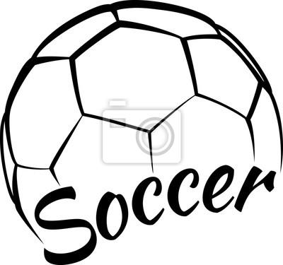 Naklejka Piłka nożna z Fun Tekst