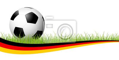 piłka nożna z niemieckim banerem