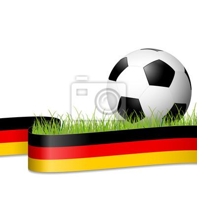 piłka nożna za niemieckim banerem